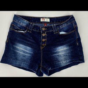 LEI-Size 11-Dark Wash Tatum High Rise Jean Shorts